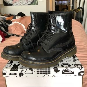 Doc Marten Patent Leather Boots